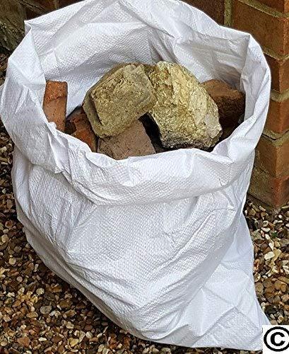 20 sacos de escombros de tela de polipropileno