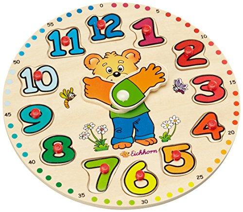 eichhorn-100005456-horloge-educative-en-bois-13-pieces