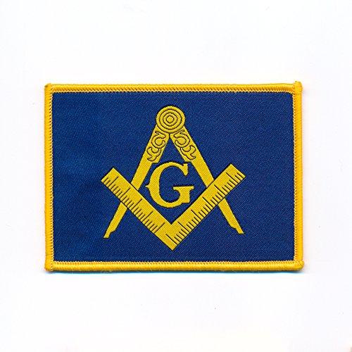 90 x 65 mm Masonic Winkel und Zirkel Freimaurer Patch Aufbügler Aufnäher 0849 X