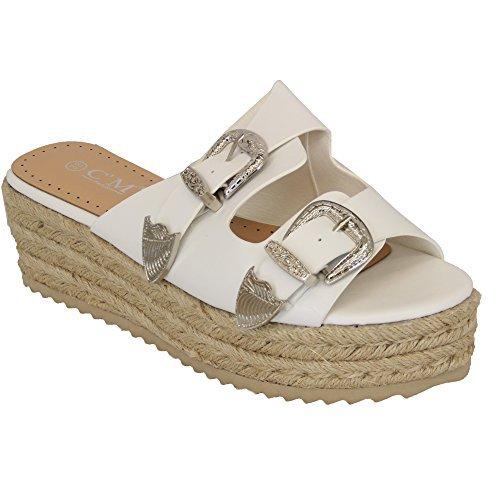 773 MCM Bianco cm Sandali Donna Moda qX6wrOX