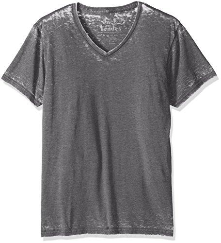 Jack Of All Trades Herren T-Shirt Burnout V-Neck - Silber - X-Groß - Sleeve V-neck Burnout T-shirt