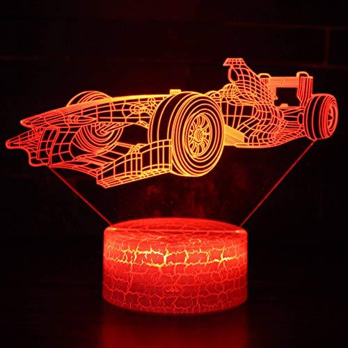 Kreatives Rennsport Ferrari 3D-Nachtlampe Schlafzimmer Sehen Visuelle Ladestation Valentine Es Day Geburtstag