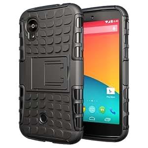 Etui ProteKtoR LG Nexus 5 16/32/64 Go (3G/Wifi/4G/LTE) Total noir avec stand - Housse coque de protection Silicone avec stand Google LG Nexus 5 - Prix découverte accessoires pochette XEPTIO case
