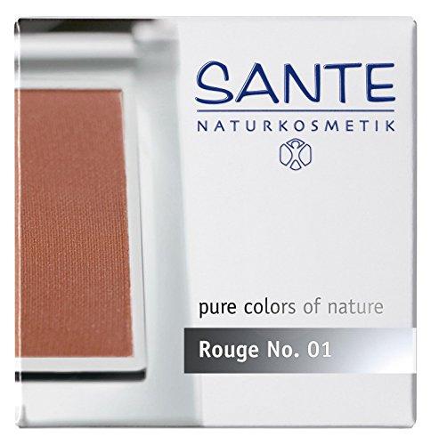Cosmetics Blush (SANTE Naturkosmetik Rouge No. 01 silky terra, Blush, Natürliche Mineralpigmente, Sanfte Textur, Natural Make-up, Bio-Extrakte, 7g)