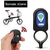 Lista 05 Different Type Loud Sound Security Bike Lock Remote Control Alarm Waterproof Bicycle Alarm Lock Anti-Theft Lock Sturdy Black Plastic No Rust
