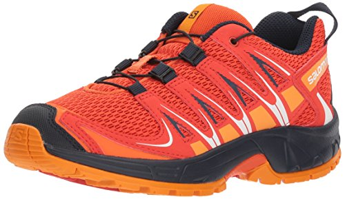 Salomon Kinder XA Pro 3D Trailrunning/Outdoor-Schuhe, Orange/Rot (Scarlet Ibis/Fiery Red/Night Sky), Gr. 34 (Kids Orange Schuhe)