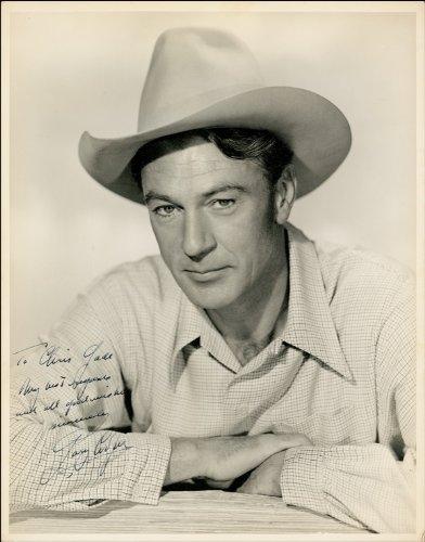 Gary Cooper Autogramm, glänzend Foto Print (Gary Cooper-poster)