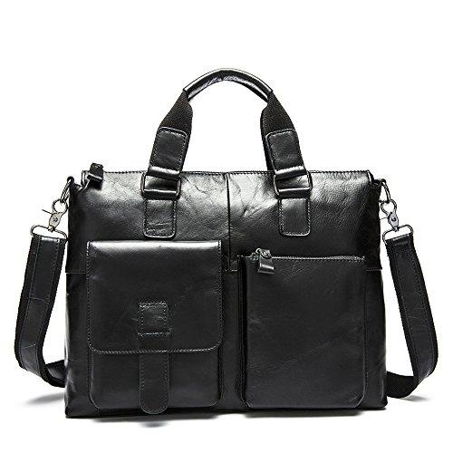 Männer - Umhängetasche, Umhängetasche, Business Casual Handtasche schwarz