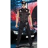 LAVINI COSPLAY-El nuevo traje de la policía juego de rol en Europa y América uniformes de la policía masculina trajes de Halloween uniformes vestir de los hombres