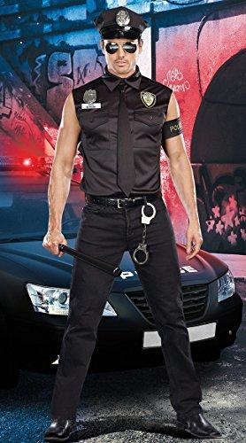 Gorgeous Die neue Polizei -Kostüm -Rollenspiel in Europa und Amerika männlichen Polizeiuniformen Uniformen Halloween (Polizei Kostüm Männlichen)