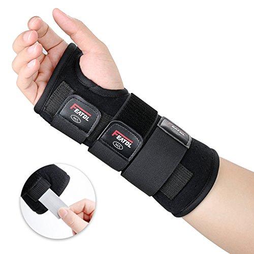 Featol Handgelenkbandage Handgelenkstütze Handgelenkschiene, Schutzfunktion Schmerzlinderung und die Stabilität unterstützen, behilflich für Männer und Frauen| Links & Rechts (Rechts, M/L(17-22)) ... -
