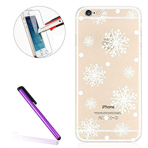 iPhone SE Hülle Silikon,iPhone SE Hülle Transparent,iPhone SE Hülle Glitzer,iPhone 5S Clear TPU Case Hülle Klare Ultradünne Silikon Gel Schutzhülle Durchsichtig Rückschale Etui für iPhone 5,iPhone 5S  H Christmas 2