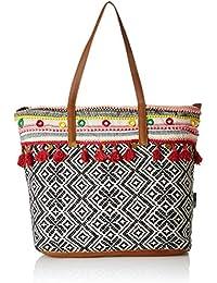 Kanvas Katha Jacquard Stylish Tote Bag Collection for Women Women's (Multicolor)
