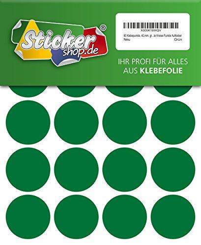 WP Klebepunkte 05 mm - Juego de 80 puntos adhesivos (40 mm), color verde, de PVC, impermeables