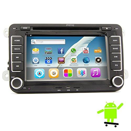 Pupug Top GPS Navi 7-Zoll-Android 5.1 Car PC DVD-Player Video Stereo f¨¹r VW Volkswagen Passat B6 / B7 / Passat CC / TNetta / Polo / Golf / Caddy / Tiguan / Turan / Skoda / Seat / Scirocco / T6 Transporter / EOS / Bora / Amark 2005 2006 2007 2008 2009 2010 2011 mit wifi 3G kapazitiver Touch-Taste von EinCar (I Pod 5 Transporter)