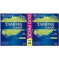 Tampax Compak Super Tampones con Aplicador - 40Unidades