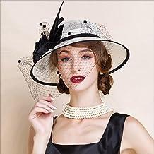 Fei Fei Cappello a Bombetta per Donna Europa Elegante Cappello di Lino  Originale Accessori per Capelli 3451cd5d0bcb