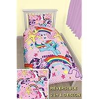 Reversible My Little Pony-Equestria MLP de cama de funda de edredón juego de cama infantil, My Little Pony