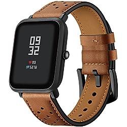Javpoo Accesorios bandas Compatible Huami Amazfit Bip Youth, reemplazo de bandas de cuero pulsera banda correa Compatible Xiaomi Huami Amazfit Bip jóvenes reloj