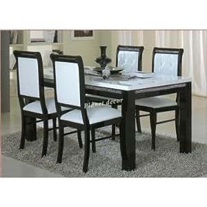 Table salle à manger PRESTIGE 190 cm(noir-blanc)