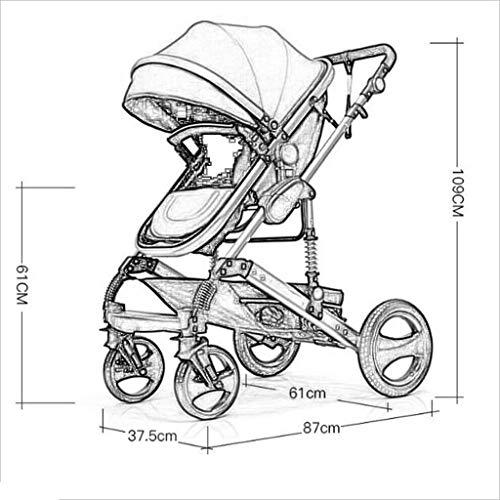 MU Sillas de paseo cómodas Cochecito de bebé recién nacido Cochecito de bebé Cochecito plegable...