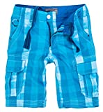 Rock Creek Herren Karoshorts Bermuda Hose CAGO-Shorts Sommer Hose Kurz Shorts Herrenshorts H-158 XL Blue12