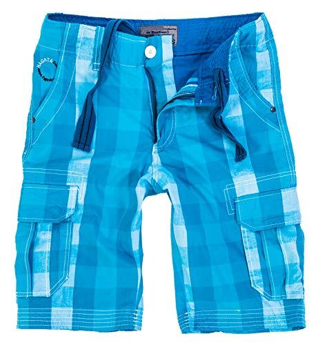 Blau Karierte Cargo-shorts (Rock Creek Herren Karoshorts Bermuda Hose CAGO-Shorts Sommer Hose kurz Shorts Herrenshorts H-158 L Blue12)