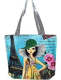 Printed Women's Handbag, Purse, Tote Bag, Shoulder Bag, Grocery Bag With Beautiful Print For Girls, Ladies And...
