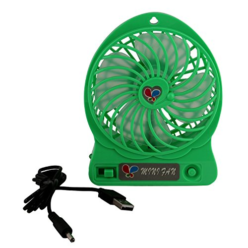 Indiplay Mini Portable Bladeless Usb Operated Fan(Green)