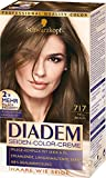 Schwarzkopf Diadem Seiden-Color-Creme, 717 Hellbraun Stufe 3, 3er Pack (3 x 180 ml)