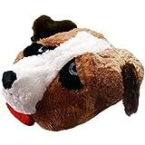Sleepy Puppy Jumbo Double Slipper New Comfy Feet Massaging Faux Fur Foot Warmer