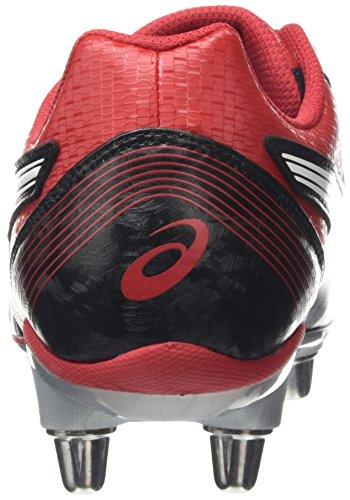 ASICS Lethal Tackle - Scarpe da Rugby Uomo, Nero (black/racing Red/white 9023), 44 1/2 EU Nero (black/racing Red/white 9023)