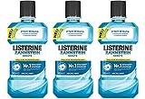 Listerine Zahnsteinschutz, Mundspülung ohne Fluorid, Für natürlich schöne Zähne, 3er Pack ,3 x 500 ml