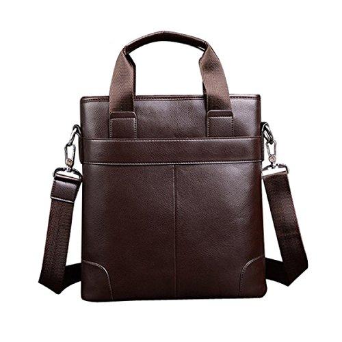 Mann-Geschäfts-Paket-Handtaschen-Computer A4 Aktenkoffer-beiläufige Beutel-Mann-Beutel-Schulter-Kurier-Beutel Brown
