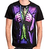 Cotton Division Trick Costume Joker, T-Shirt Uomo, Multicolore Sublimation, L