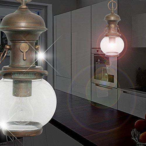 Schiffs Hänge Leuchte Antik/ Maritim/ Golden/ Messing/ Pendel Lampe Boots Hängelampe Hängeleuchte Pendellampe Pendelleuchte (Antike Messing Leuchten)