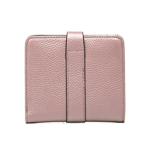 Genda 2Archer Borse di Cuoio Delle Piccole Borse del Raccoglitore Delle due Donne (10cm * 2cm * 12cm) (Porpora) Rosa 2