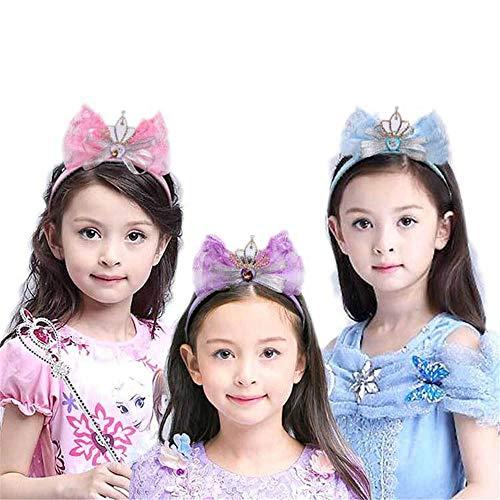Königin Prinzessin Pageant Tiara Kleid Prinzessin Kostüm Schmetterling Mädchen Brautkrone Stirnband Haarschmuck Schmuck (Farbe : Lila)
