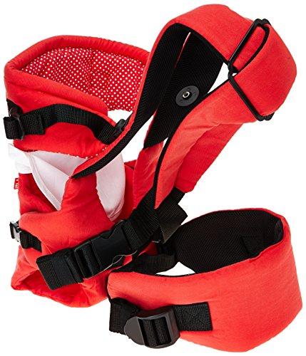 Mothercare-Mochila portabebés con 2posiciones Rojo (blanco)