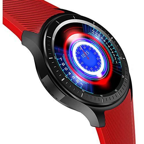 HHRONG Smart Watch, GPS-Positionierung mit Schlafdetektor IP67 wasserdichte Ganztagserkennung Sportuhr, 3g Android Smart SMS Push-red (Iphone 3g-armband)