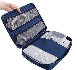 Ducomi® Cloonie - Organiseur de Voyage pour Chemises et Cravates - Sac de Rangement Résistant et Etanche pour Valises et Bagages