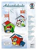 Ursus 17820001 - Adventskalender Eule, Bastelset für 24 Geschenkboxen