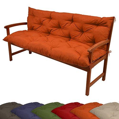 Bankauflage Sitzpolster Gartenbank-Auflage Bankpolster Bankkissen Polsterauflage orange 100x50x50 cm - versch. Farben
