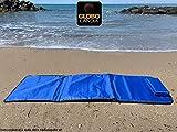 91771B Tappetino Stuoia Blu Spiaggia Imbottita Reclinabile in 6 Posizioni con Schienale Pieghevole e, Stuoia Materassino Telo Mare Unisex Adulto, Blue, Taglia Unica