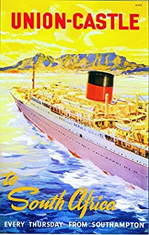 Vintage Union Castle Line Cruises To South Africa Poster A3 Print