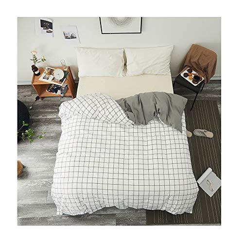 Auto-Bettwäschebezug (Doppelbett, King-Size-Bett), ohne Bettlaken, Kissenbezüge, Gittermuster, grüne Blätter, für Kinder, Erwachsene, 1 Stück, Microfaser, City Moon, Pink, Twin 60