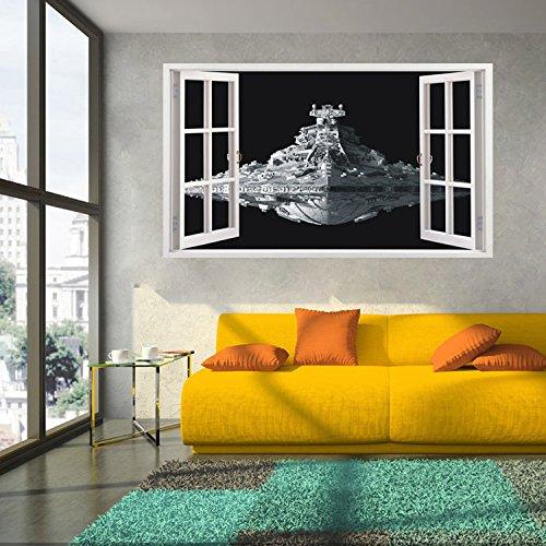 ALLDOLWEGE Personalisierte Schlafzimmer 3D Wandbild Wall Mount stereo im Star Wars außerirdische Raumfahrzeuge wall-60 * 100 cm