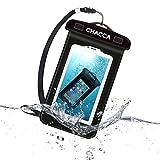 CHACCA Funda Impermeable Paquete de 1 bolsa para teléfono, bolsa seca, pantalla sensible, protector de teléfono táctil para iPhone X / 8 Plus / 7 Plus / 6s / 6 Plus, Samsung Galaxy / NoteLGV20, Google Pixel, 7
