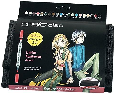 Copic marqueurs Ciao Set Manga Trousse 20 couleurs Amour
