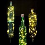 Tomtopp 2M Light String 20 LED Cork Stopper Lamp Copper Light Party Decor (Warm White, 2.0)